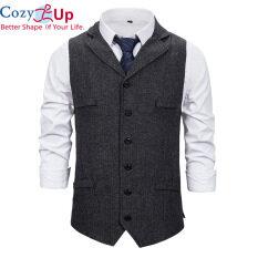 Áo vest nam Cozy up mặc đám cưới, trang phục doanh nhân trang trọng 2020