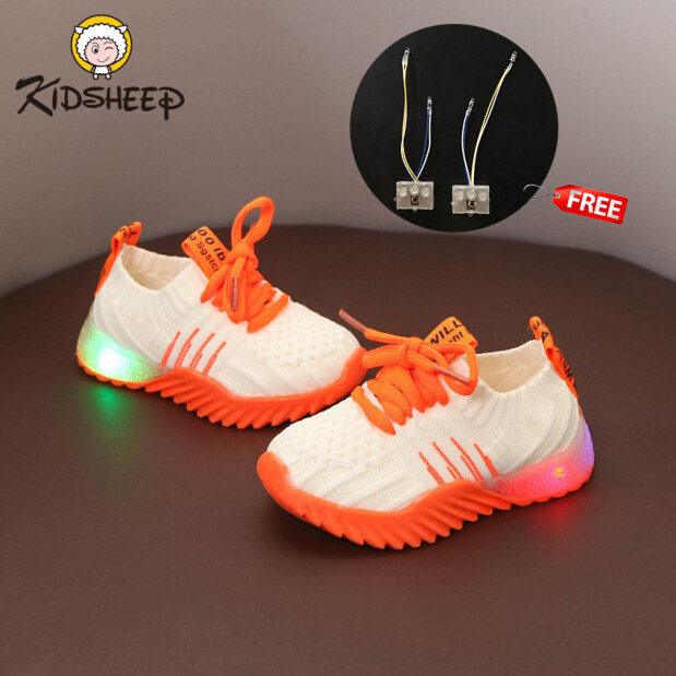 Kidsheep Sneakers Kids Sneakers Children Luminous Shoe Sport Shoes Outdoor Sneaker School Shoe Lightweight Breathable Sneakers Fashion Children Shoes Non-slip Casual Shoes Gift for Kids giá rẻ
