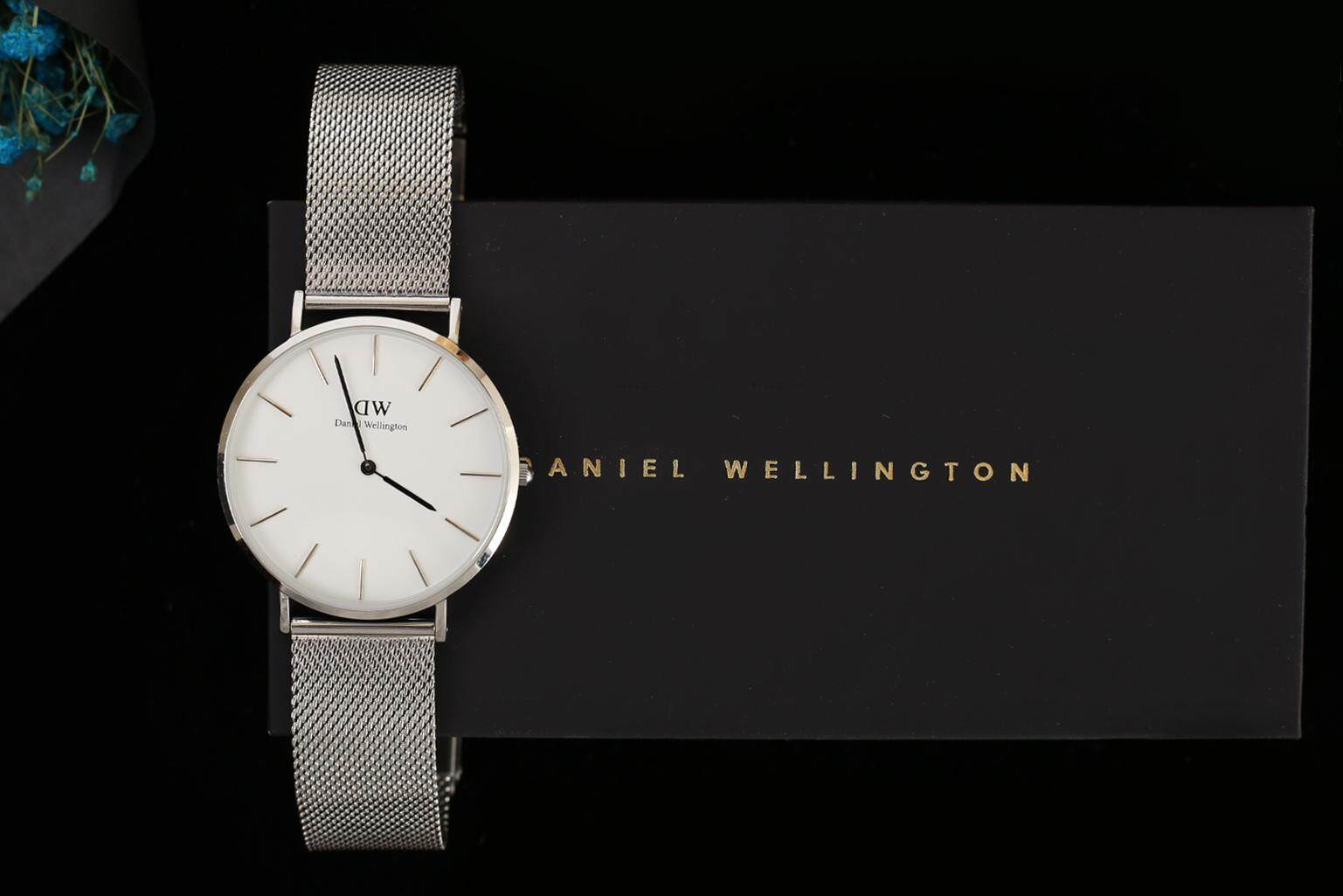 100% Genuine Product Waterproof Daniel Wellington Watch Women's U.S Fashionable Watch Fashion Tide Steel Band