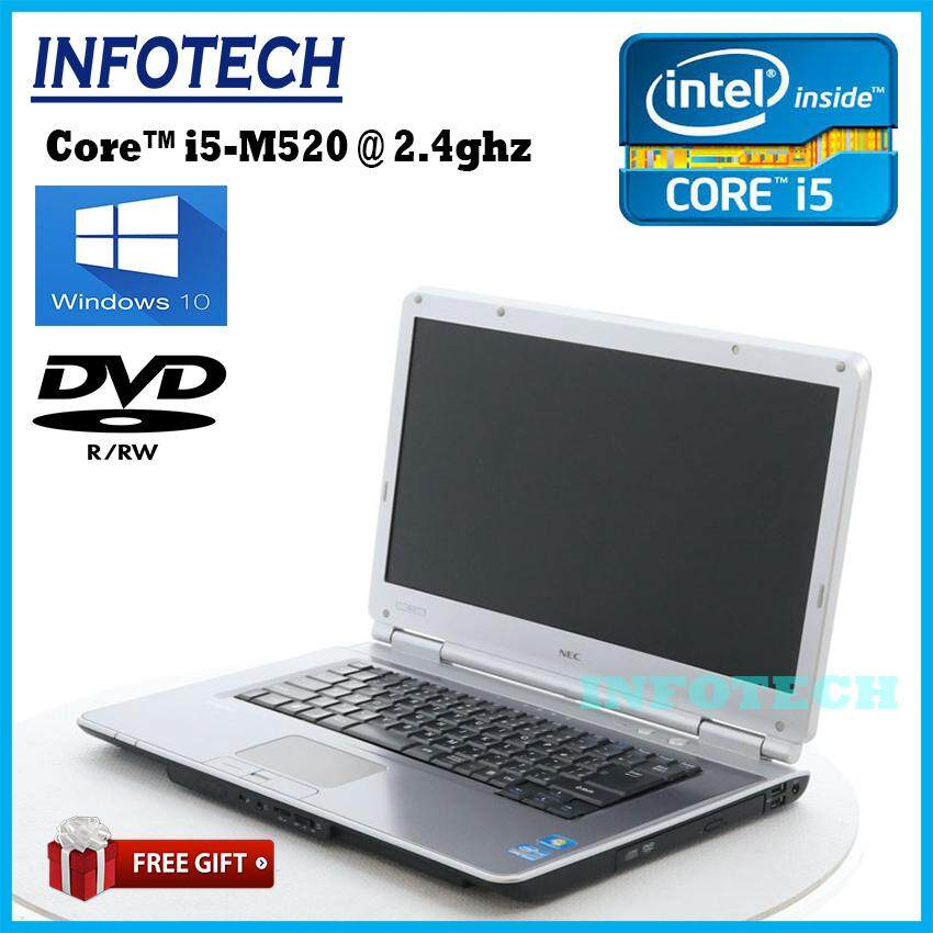 Nec VY24 intel core i5 2.4ghz 4gb ram 320gb hdd dvd hdmi laptop notebook 15.6 ~ refurbished Malaysia