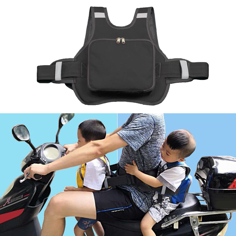 Grip-n-Ride Unisex-Adult Passenger Safety Belt Motorcycle Safety Belt Rear Seat Passenger Grip Grab Handle Non-Slip Protection Strap Kidney Belts Black