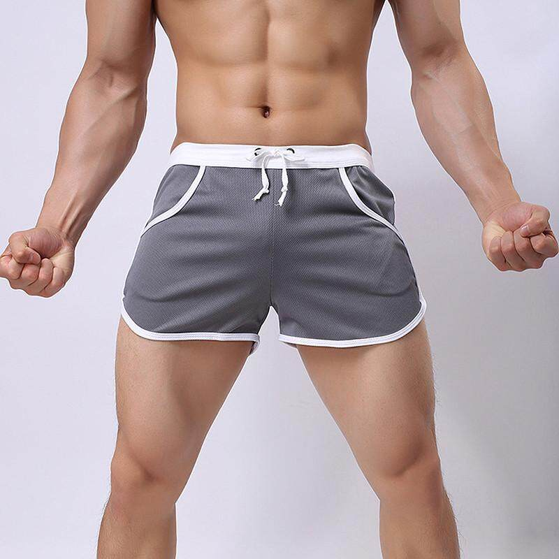 Men's Shorts New Fashion Style Shorts For Men Summer Solid Breathable Elastic Waist Casual Man Shorts Male Swimwear