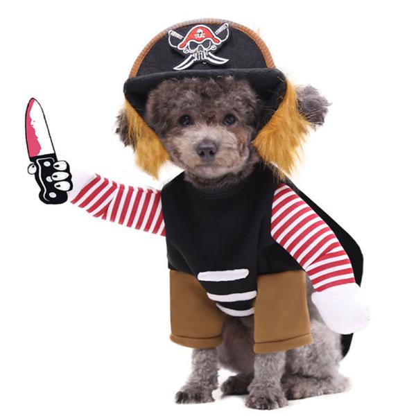 Pet Dog Cat Vui Halloween Party Fancy Dress Trang Phục Trang Phục Với Chân Cánh Tay Giả