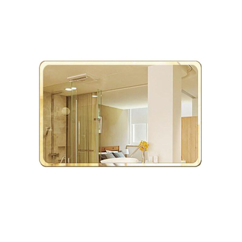 Đơn Giản Châu Âu Không Đánh Bóng Gương Vát Gương Hình Chữ Nhật Gương Tròn Góc Gương Trang Điểm Gương Phòng Tắm Chống Cháy Nổ Gương Khách Sạn Kính Phòng Tắm Gương Treo Tường 35X45 Cm
