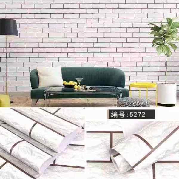 (Ready Stock) HYLL 2D Wallpaper Wall Stickers Self Adhesive Waterproof 45cm*1000cm Kertas Dinding Murah Berkualiti Corak Vintage 10 Meter
