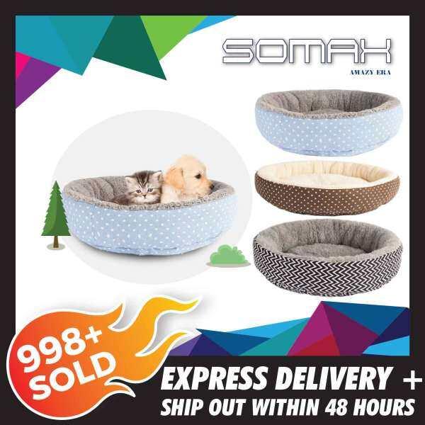 Giá bán Cửa Hàng SOMAX!! Hình Tròn Thoải Mái Giường Sofa Cho Chó Nhà Cho Thú Cưng Không Thấm Nước Ổ Cho Thú Cưng Cho Chó, Mèo