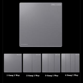 1 Cái 86 Loại Tường Công Tắc Điện Ổ Cắm Bảng Điều Khiển Công Tắc Điều Khiển Đèn Gia Dụng Màu Xám Bạc thumbnail