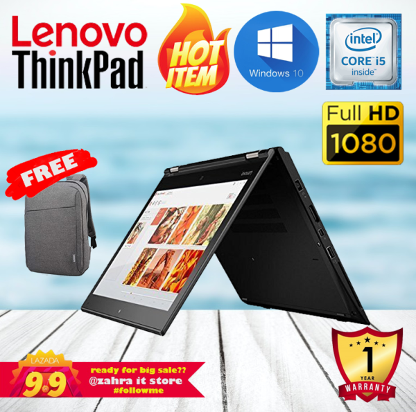 LENOVO THINKPAD YOGA 260 [CORE I5-6TH GEN / 16GB RAM / 256GB SSD] ULTRABOOK / x360 FULL HD / WINDOWS 10 PRO / 1 YEAR WARRANTY [REFURBISHED BOXPACKED] Malaysia