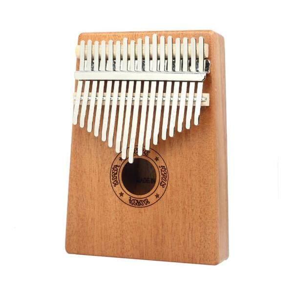 17 Kunci Kalimba Kayu Mahogany Thumb Piano dengan Penalaan Tukul Pelekat Kain Malaysia