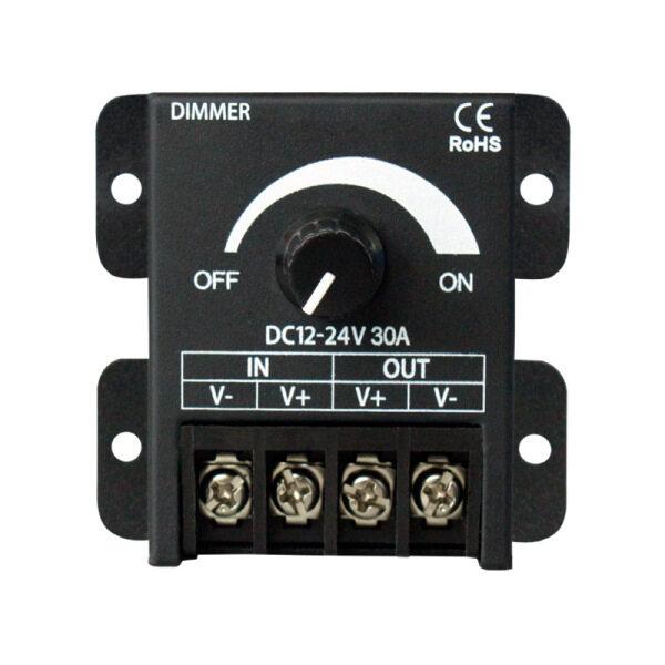 Bảng giá DC12V-24V 30A Black LED Dimmer Switch Brightness Controller for Single Color 5050 3528 5630 Led Lamp Strip Light Phong Vũ