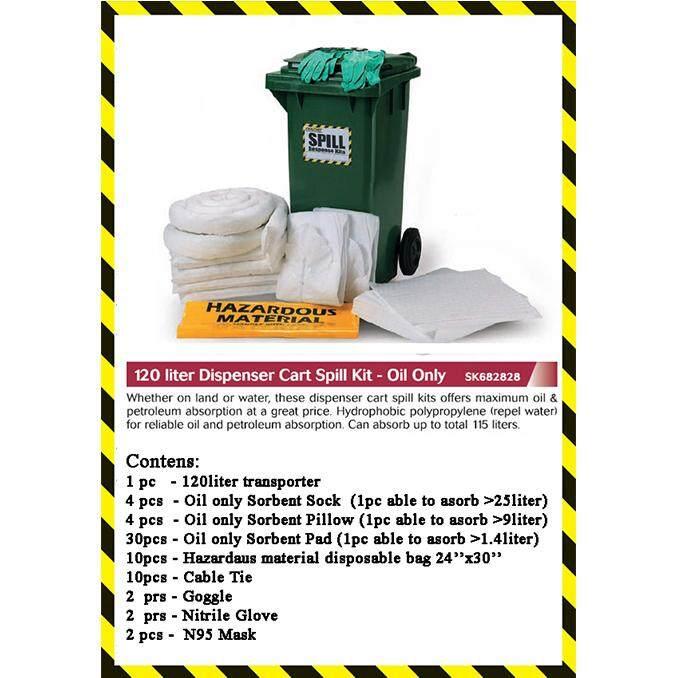 Industrial Oil Spill Kit 120L Green Bin