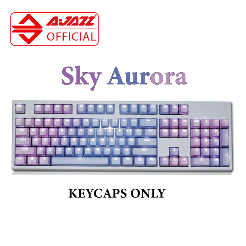 Ajazz Colorful Theme PBT 104 keycaps for Mechanical Keyboard & Gaming keyboard Malaysia