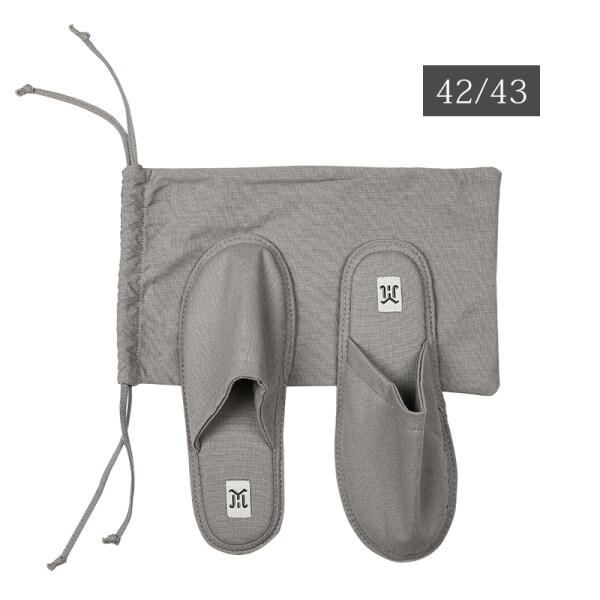 Du lịch Xách tay cotton và Linen Dép đi trong nhà khách sạn cặp vợ chồng có thể gập lại Linen im lặng giày Trọng lượng nhẹ khách sạn non-slip dép