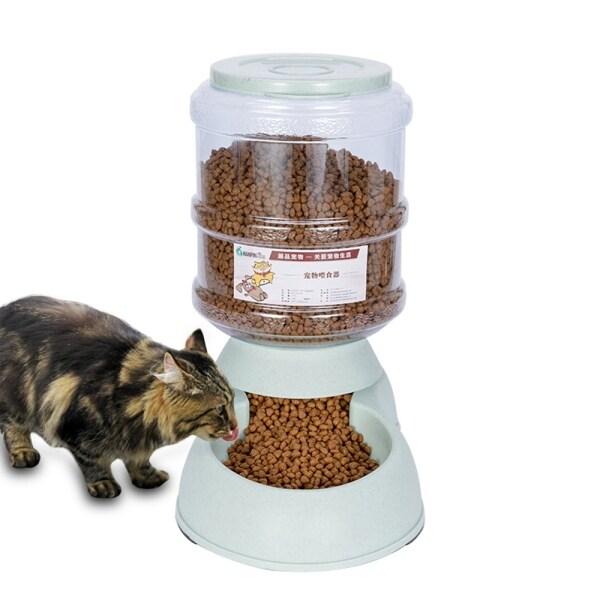 PET Buddy Pet Bát Ăn Tự Động 3,75l Thùng Lưu Trữ Thực Phẩm Dung Tích Lớn Chó Con Mèo Con Bộ Nạp Thức Ăn Thích Hợp Cho Tất Cả Các Loại Đồ Dùng Cho Chó Mèo