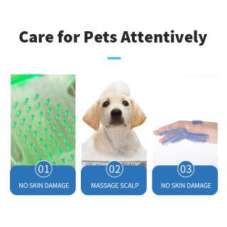 Lược Chải Chó Mèo Bàn Chải Tắm Năm Ngón Chải Lông Cho Thú Cưng, Massage Lòng Bàn Tay Găng Tay 5
