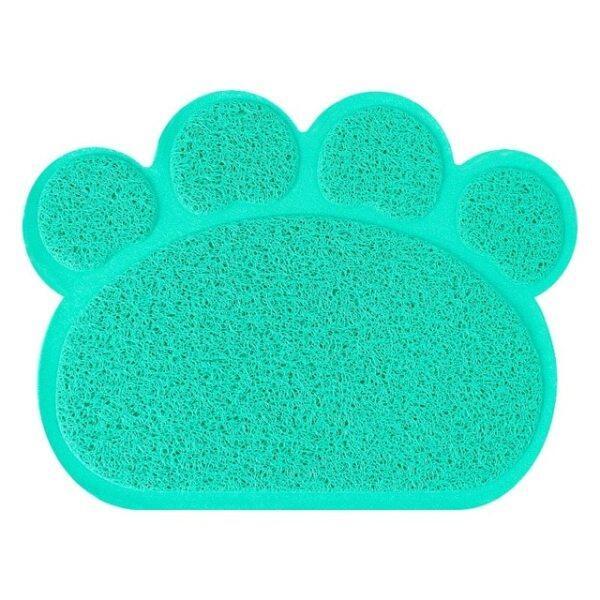 30Cm * Tấm Lót Cho Mèo Ăn Cho Chó Con Chó Cưng 40Cm Bát Đĩa PVC Hình Chân Dễ Thương Khăn Trải Bàn Nước Thức Ăn, Làm Sạch