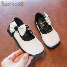 Giày Công Chúa Bear Leader Cho Trẻ Em, Giày PU Thắt Nơ Màu Trơn Phong Cách Thời Trang Mùa Thu Mới 2020