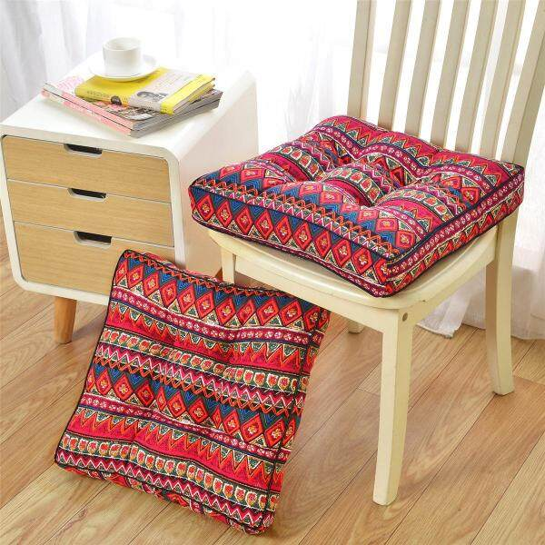 20 Inch Ethnic Plush Patio Outdoor Chair Cushion Pads Super Thick Seat Cushion
