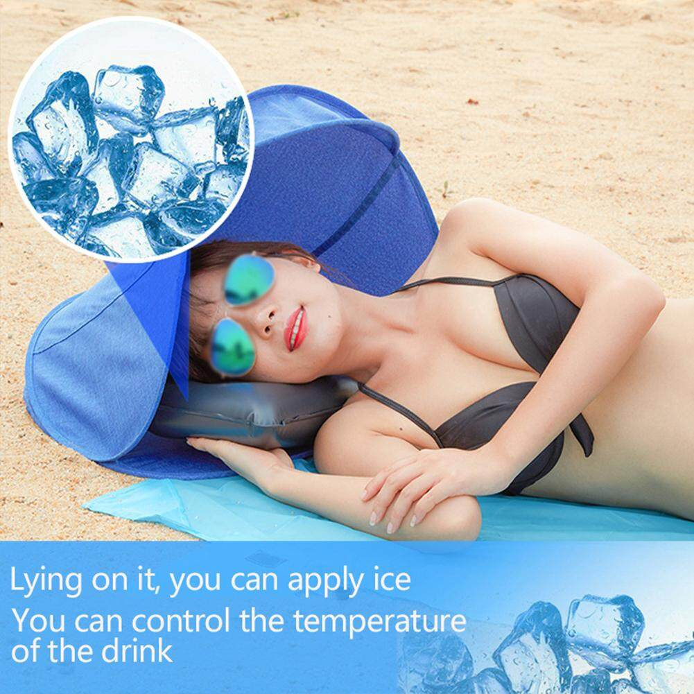 Portable Outdoor Beach Shader Sun Shelter For Personal UV Protection Beach Foldable Face Tent With Pillow