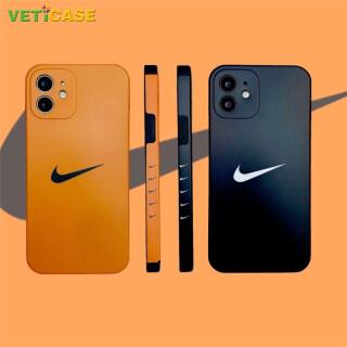 AJ Hook Ốp Điện Thoại In CẠNH VUÔNG Ốp Lưng Silicon Mềm Bảo Vệ Cho Apple IPhone 11 12 Pro X XS Max XR 8 7 Plus SE2 Ốp Di Động, Màu Cam Màu Đen thumbnail
