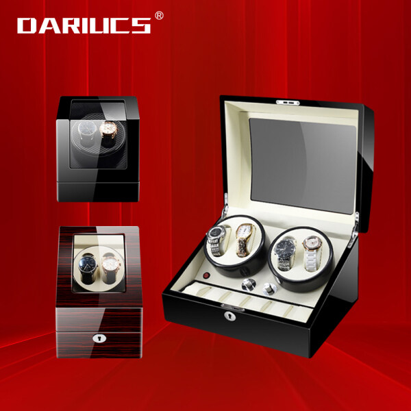 Watch Winder box for Automatic Watches Quite Japanese Motor High Quality Premium Luxury Auto Watch Winder Automatic Rotate Watch Box 2+0 2+3 4+0 4+6 PU Carbon Leather Watch  5 Modes 摇表器 机械表 Malaysia