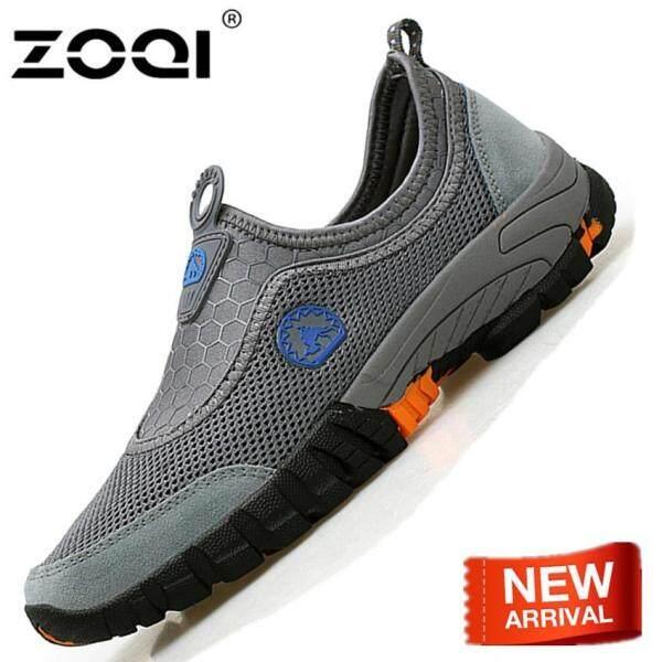 ZOQI Đi Bộ Đường Dài Giày Cho Nam Giới Ngoài Trời Leo Núi Đi Bộ Đường Dài Giày Thời Trang Giày Thể Thao Cao Su Giày Trên Bán Sneakers