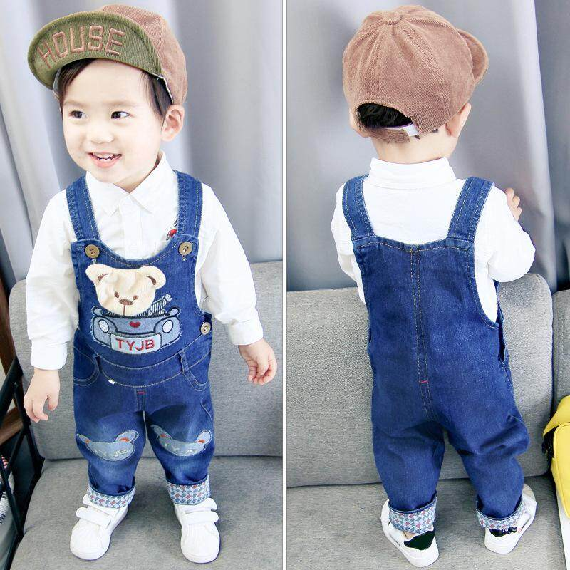 fdf6fcb0e IENENS Toddler Infant Boys Long Pants Denim Overalls Dungarees Kids Baby  Boy Jeans Jumpsuit Clothes Clothing Outfits Trousers