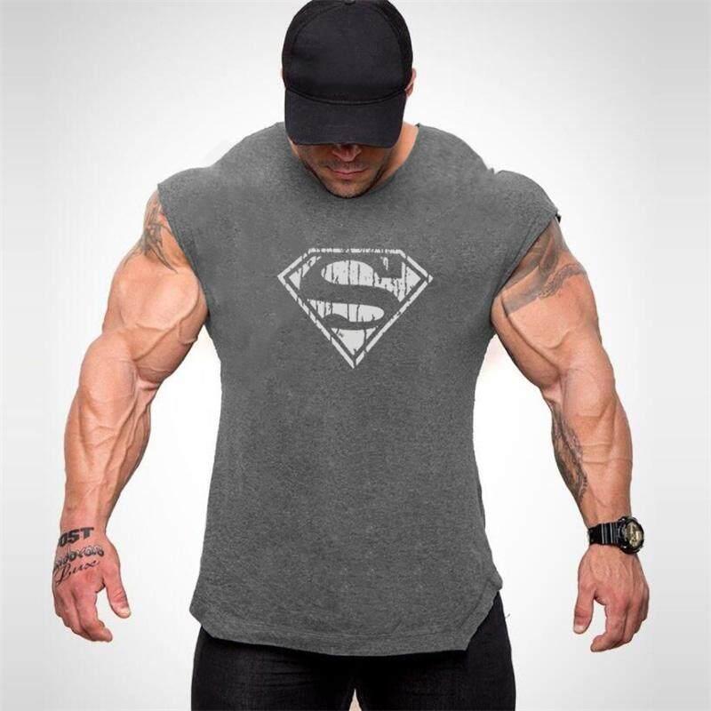 Terbaru Desain Gym Kaus Kutang Pria Singlet dengan Tudung untuk Pria Katun Stringer Binaraga Tank Top