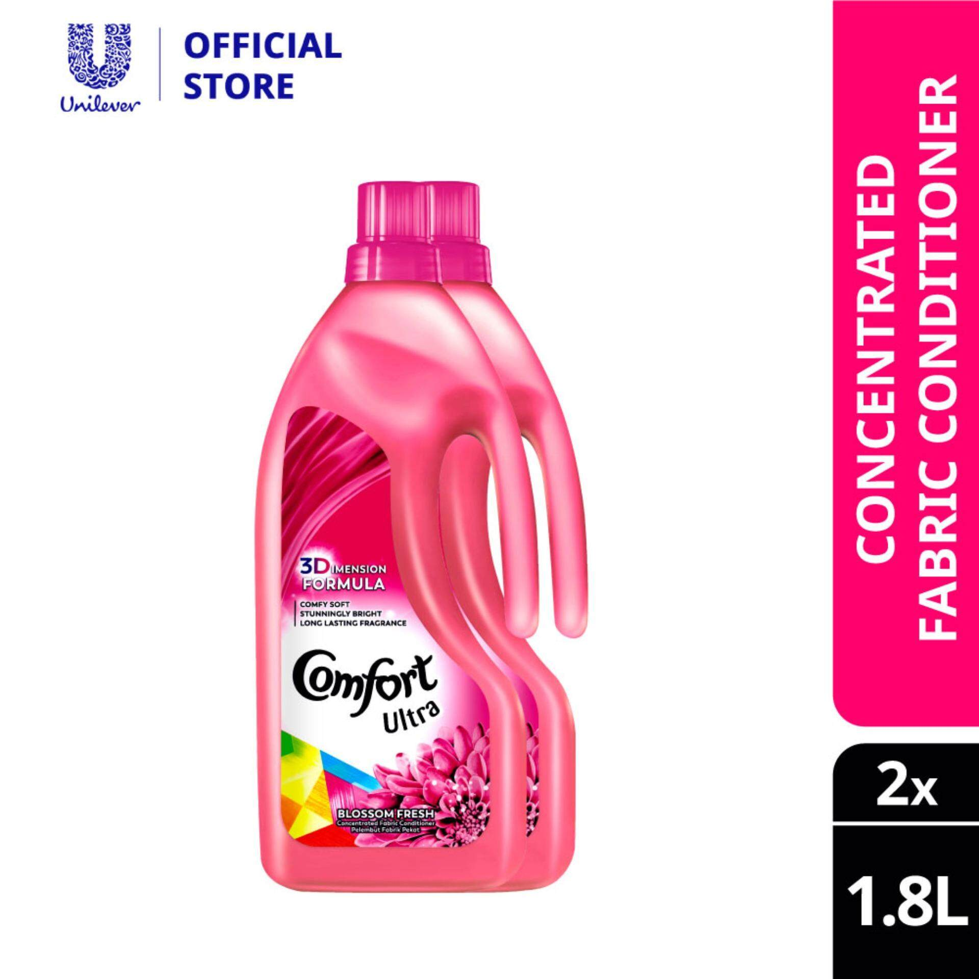 Comfort Concentrate Fabric Softener Blossom Fresh 1.8 L x 2