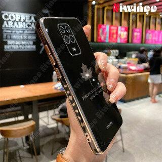 Ốp Điện Thoại NIWINEE Cho Xiaomi Redmi Note 9S Note 9 Pro Note 9 Pro Max, Ốp Điện Thoại Mạ Cạnh Thẳng Hình Lá Phong Thời Trang Chống Rơi thumbnail