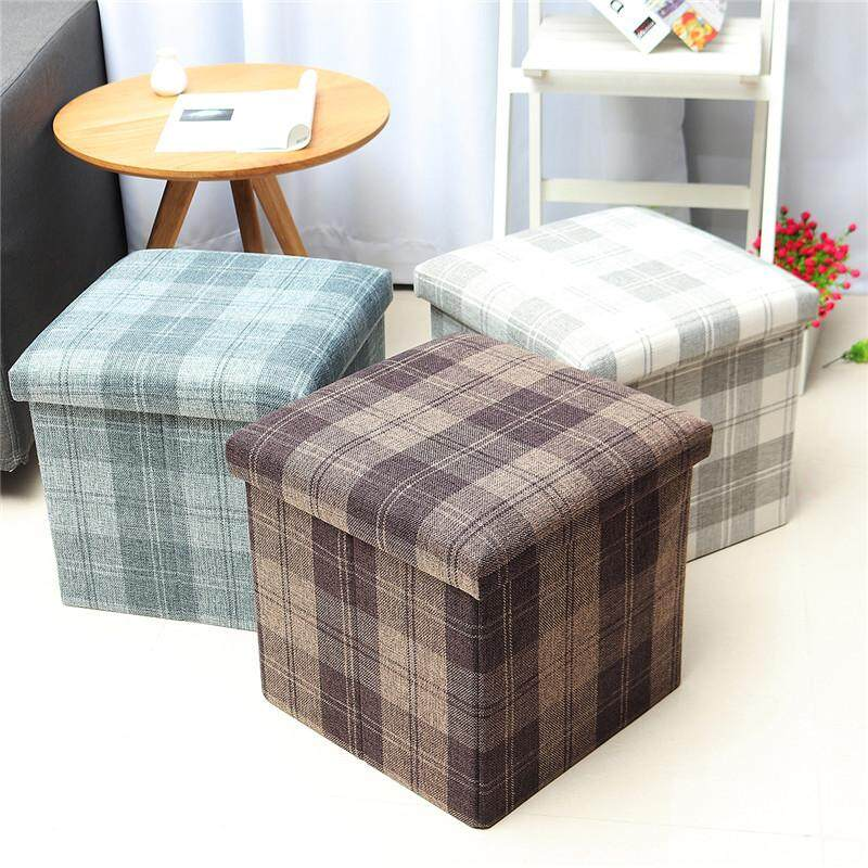 Nordic style daily furniture folding stool wholesale square car storage stool