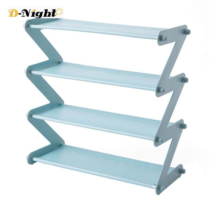 D-Night Shoe Holder Multi-Layer Storage Shoes Organizer Easy to Install Z Type Storage Shelf