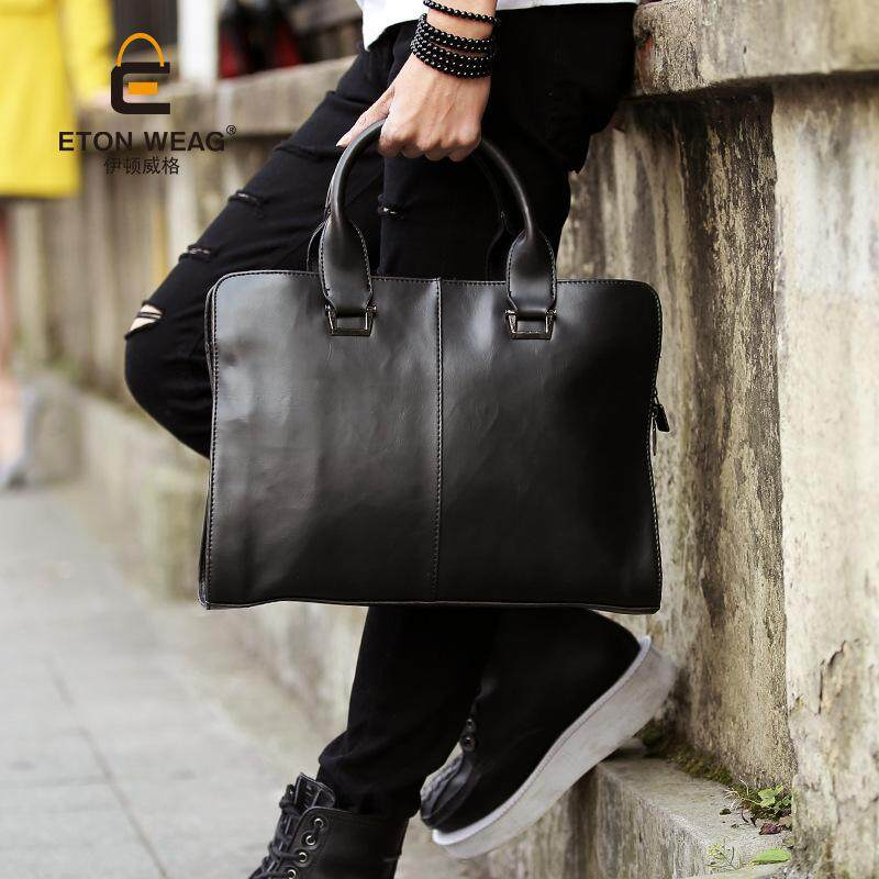 Mens Leather Briefcase New Fashion Shoulder Bag Messenger Bag Original Business Computer Bag Men Bag