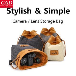 CAD, Túi Đựng Máy Ảnh DSLR Cầm Tay, Túi Dây Rút Đa Năng Canon Túi Đựng Ống Kính Vải Bố Chống Nước Cầm Tay Dành Cho Máy Ảnh Nikon Sony Pentax thumbnail