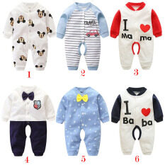 Quần Áo Trẻ Em 0-12 Tháng Áo Liền Quần Cho Bé Áo Liền Quần Cotton Dài Tay Cho Bé Sơ Sinh