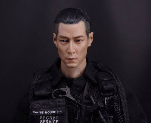 """1//6 Scale Takeshi Kaneshiro Head Sculpt Carving Model For 12/"""" Action Figure"""
