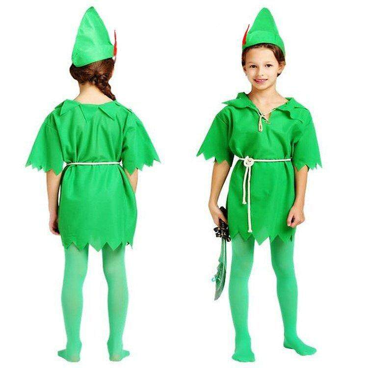 Peter Pan Robin Hood Lost Boys Teen Fancy Costume COMPLETE OUTFIT Age 9-13