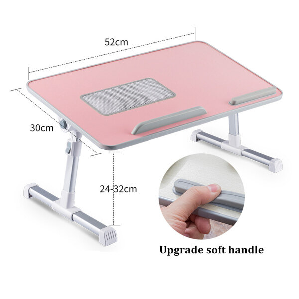 Bảng giá Adjustable Portable Folding Laptop Desk Aluminum Alloy Table Stand Bed Tray For PC Notebook with Cooling Fan Cooler Phong Vũ