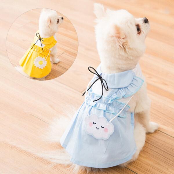 Quần Áo Vật Nuôi, Đầm Công Chúa Cún Con Bằng Vải Đẹp Phong Cách Ngọt Ngào Cho Hoạt Động Ngoài Trời Quần Áo Chó Con Mỏng Dễ Thương Mùa Hè Váy Vest Công Chúa Mùa Xuân Và Mùa Thu Cho Chó Teddy Thú Cưng Mèo