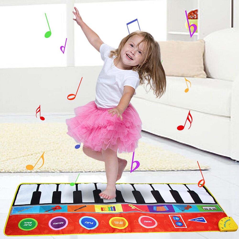 Thảm Âm Nhạc 148*60Cm/58 * 24in, Thảm Piano Có Thể Gập Lại, Thảm Điện Tử Phát Nhạc Cảm Ứng, Chơi Chăn Hát Cho Trẻ Em, Đồ Chơi Giáo Dục Sớm