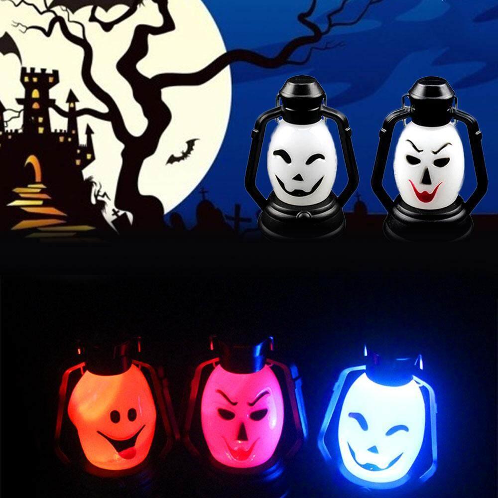 Di động Đèn Bí Ngô Dạ Quang Ban Đêm Đèn Lồng Đèn Trang Trí Halloween Nhiều Màu Sắc Halloween