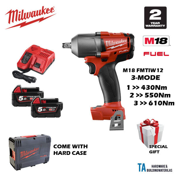 MILWAUKEE M18 FMTIW12-502X CORDLESS BRUSHLESS IMPACT WRENCH 12MM