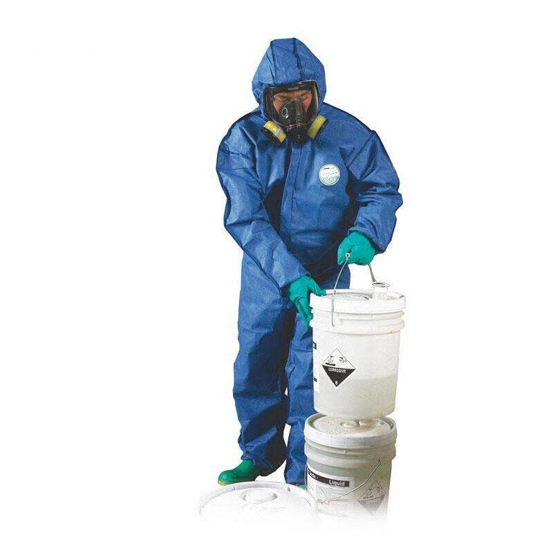 Chemical Protective Clothing Disposable Hooded Coveralls Industrial Dustproof Painting Workwear Breathable Safety Work Clothes