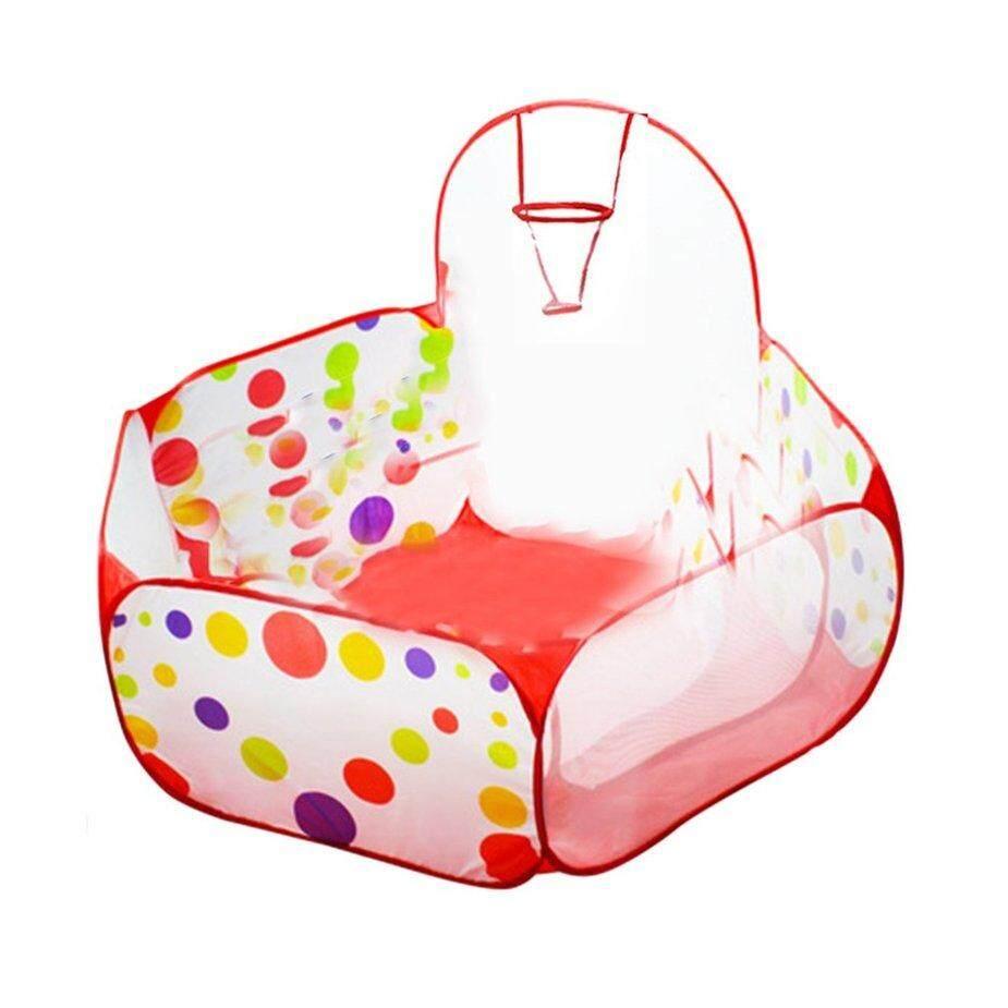 Penjualan Terlaris Polka Dot Pola Lipat Anak-Anak Bermain Rumah-Rumahan Tenda Outdoor & Indoor Tenda Basket By No1goodsstore