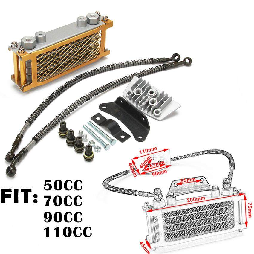 Gold Motorcycle Engine Oil Cooler Radiator Bracket For Loncin Zongshen  Lifan Shineray Yinxiang Kayo Bosuer Xmoto 50CC 70CC 90CC 110CC
