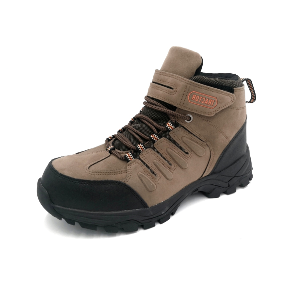 Tractor Mens Brown Lacing Safety Shoes