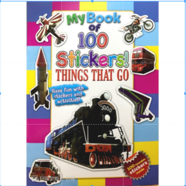 【DM】My Book of 100 Stickers - Sticker and Activities Book - Things That Go Malaysia