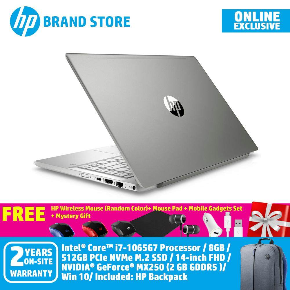 [Online Exclusive] HP Pavilion 14-ce3047TX/ 14-ce3048TX/ 14-ce3049TX Notebook Pale Gold/ Mineral Silver/Tranquil pink 8RZ02PA/ 8RZ15PA/ 8RZ05PA/i7-1065G7/14IN FHD/8GB/512GB/NV MX250 2GB/Win10+Free Premium Gifts Malaysia
