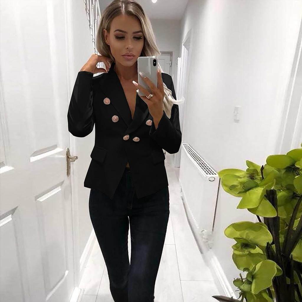 3f65defd3 MONIMENT Women Long Sleeve Blazer Open Front Short Cardigan Suit Jacket  Work Office Coat