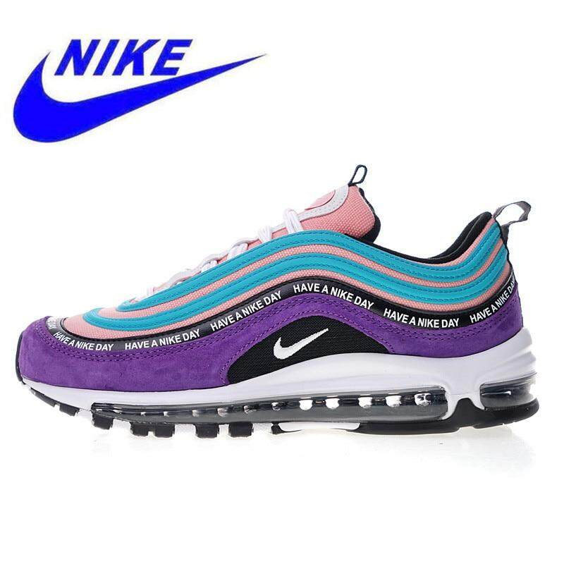 กรุงเทพมหานคร Ready Stock Nike_Air_Max_Have A Nike_Max Day 97 Women Running Shoes Sports Shoes Shock Absorption Lightweight Violet Fashion Shoes